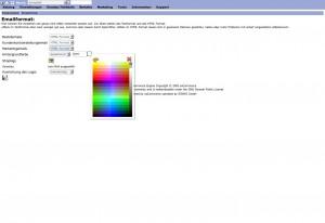 eMails Hintergrundfarbe auswählen