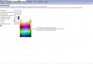 eMail Schriftfarbe und Linkfarbe anpassen